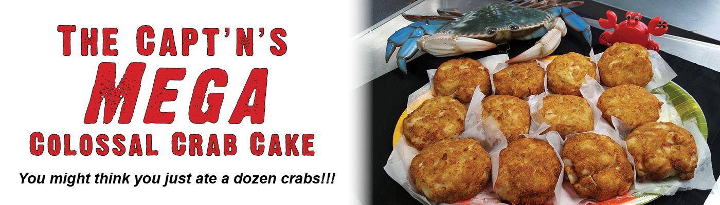 mega colossal crab cakes captn chuckys bb
