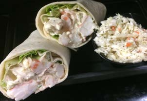 Heat Eat Shrimp Salad Wrap Capt N Chucky S Crab Cake Co Blue Bell Pa